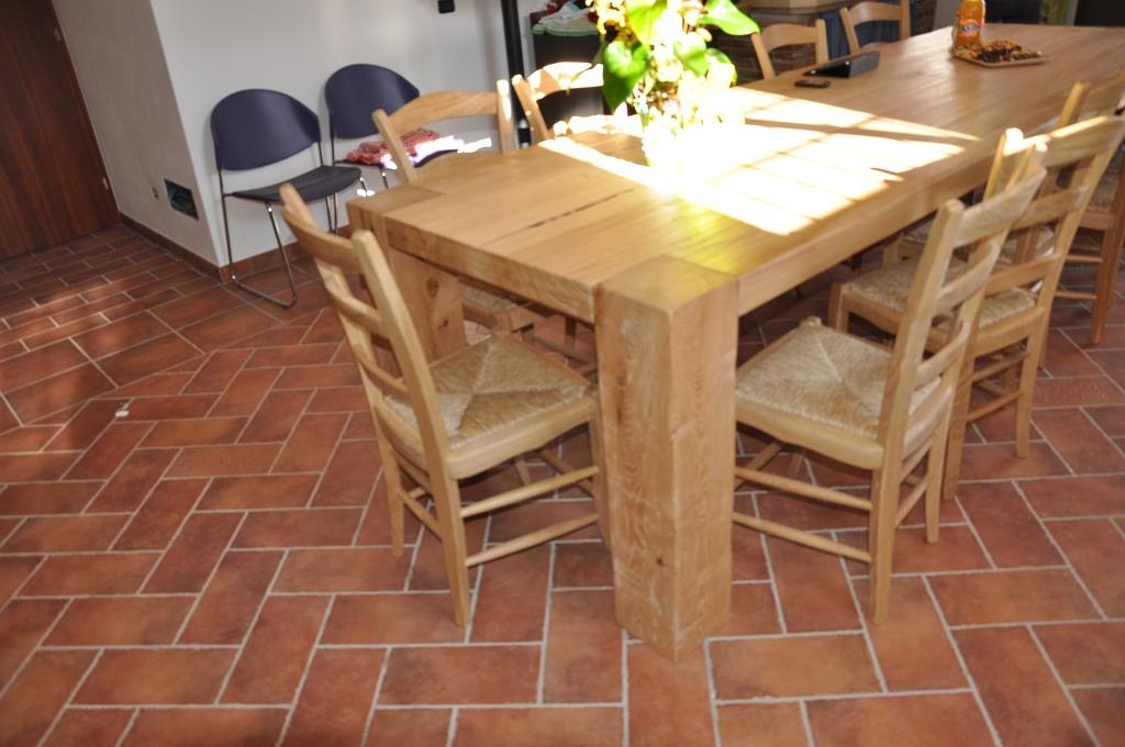 Tavoli in legno su misura fadini mobili cerea verona - Mobili rustici per cucina ...