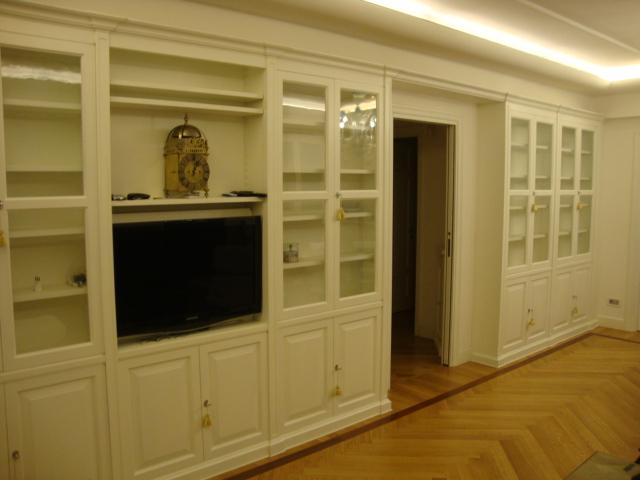 Mobile per sala in laccato bianco art 613 fadini mobili for Mobile sala bianco