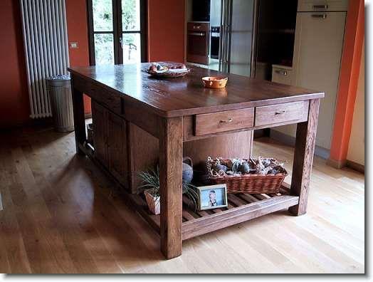 Tavoli in legno su misura fadini mobili cerea verona - Bancone cucina legno ...
