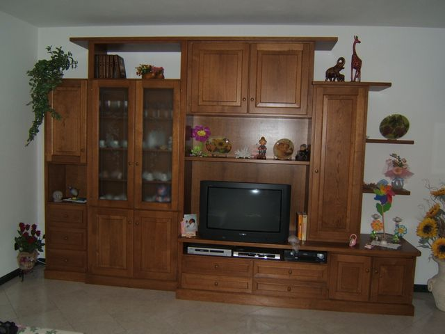 Mobili in legno per sala fadini mobili cerea verona for Parete sala
