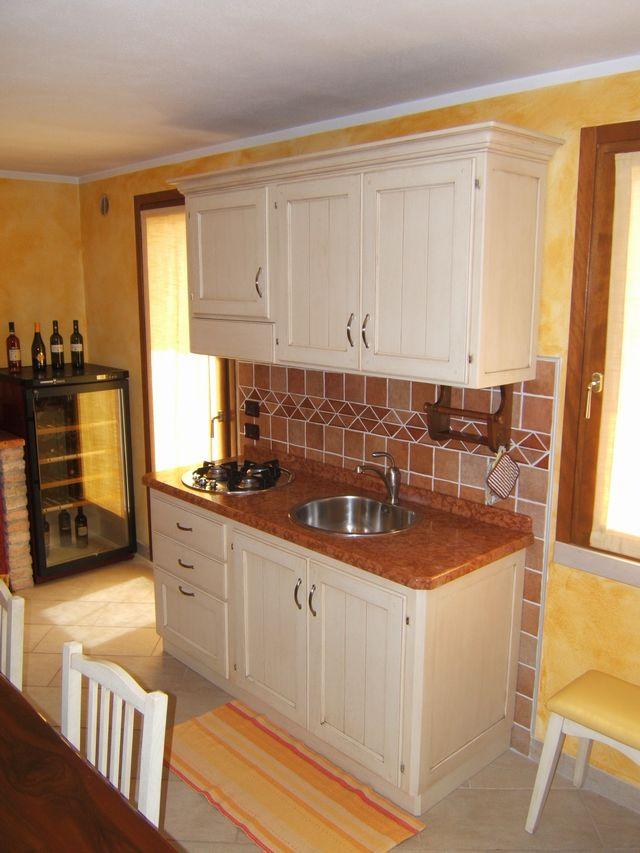 spesso Cucina country per taverna costruita in legno di rovere su misura  PJ05