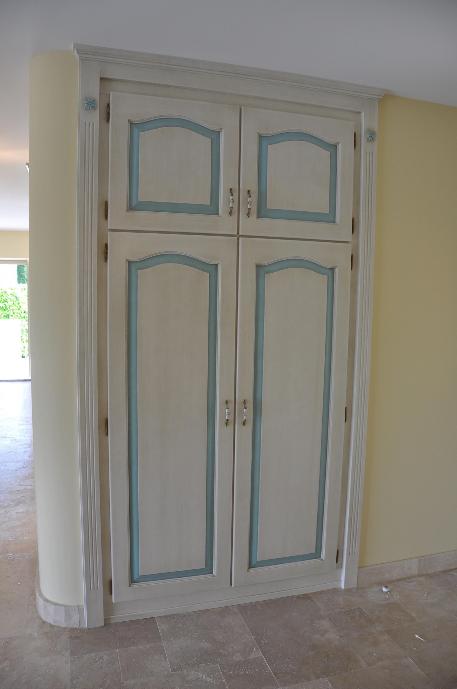 armadio per esterno in legno: armadio battente in vero legno orix