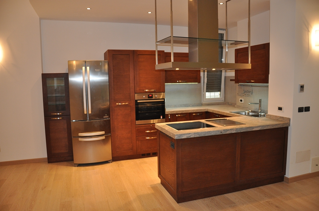 Cucine moderne fadini mobili cerea verona - Cucine legno e acciaio ...
