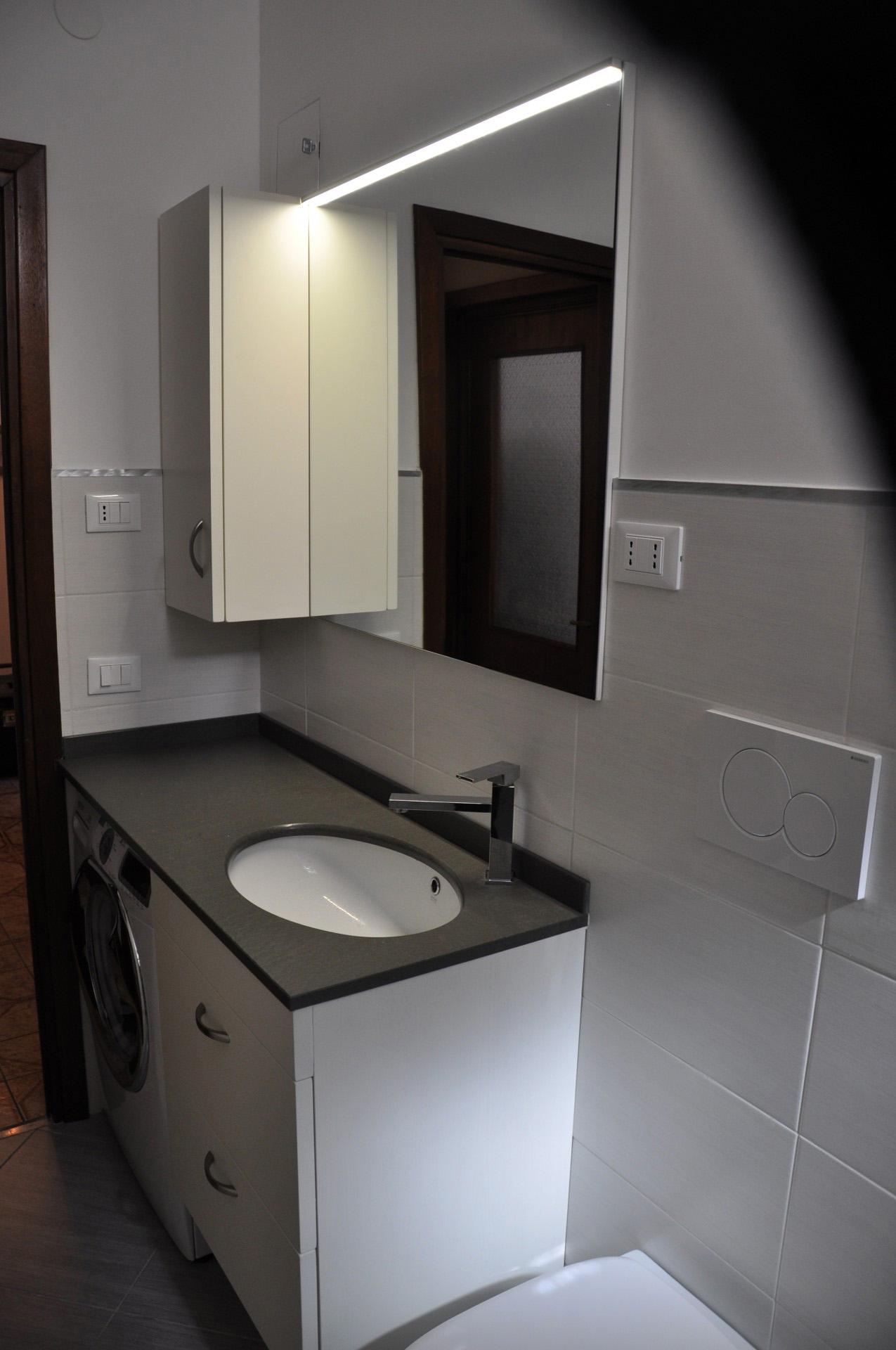 Mobili per bagno fadini mobili cerea verona for Arredo bagno con lavatrice