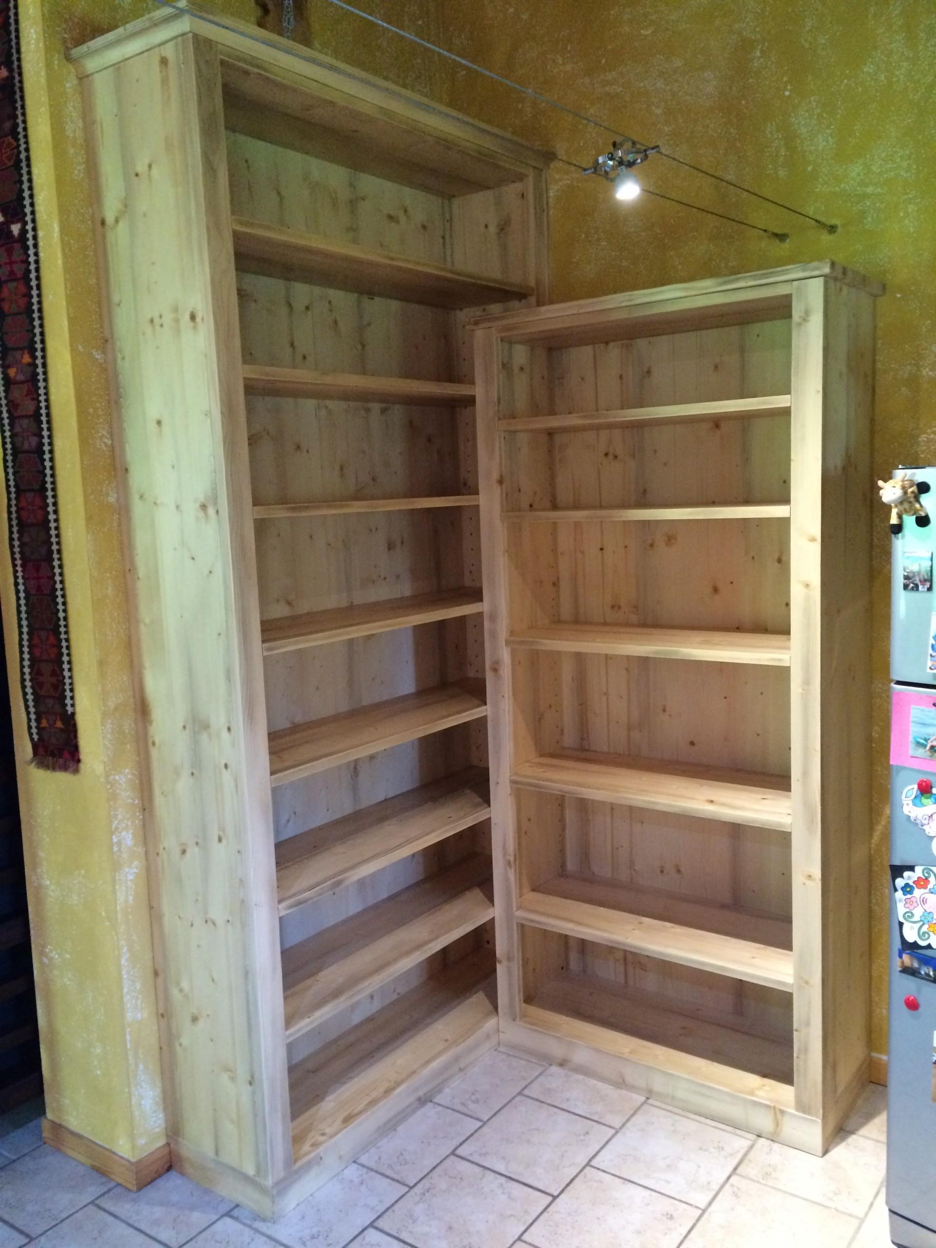 Libreria ad angolo in legno art. 933 | Fadini Mobili Cerea Verona