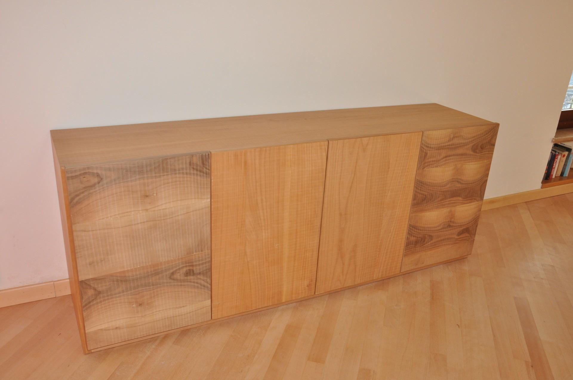 Credenza costruita su misura in legno laccato a mano fadini mobili cerea verona - Mobili legno naturale ...