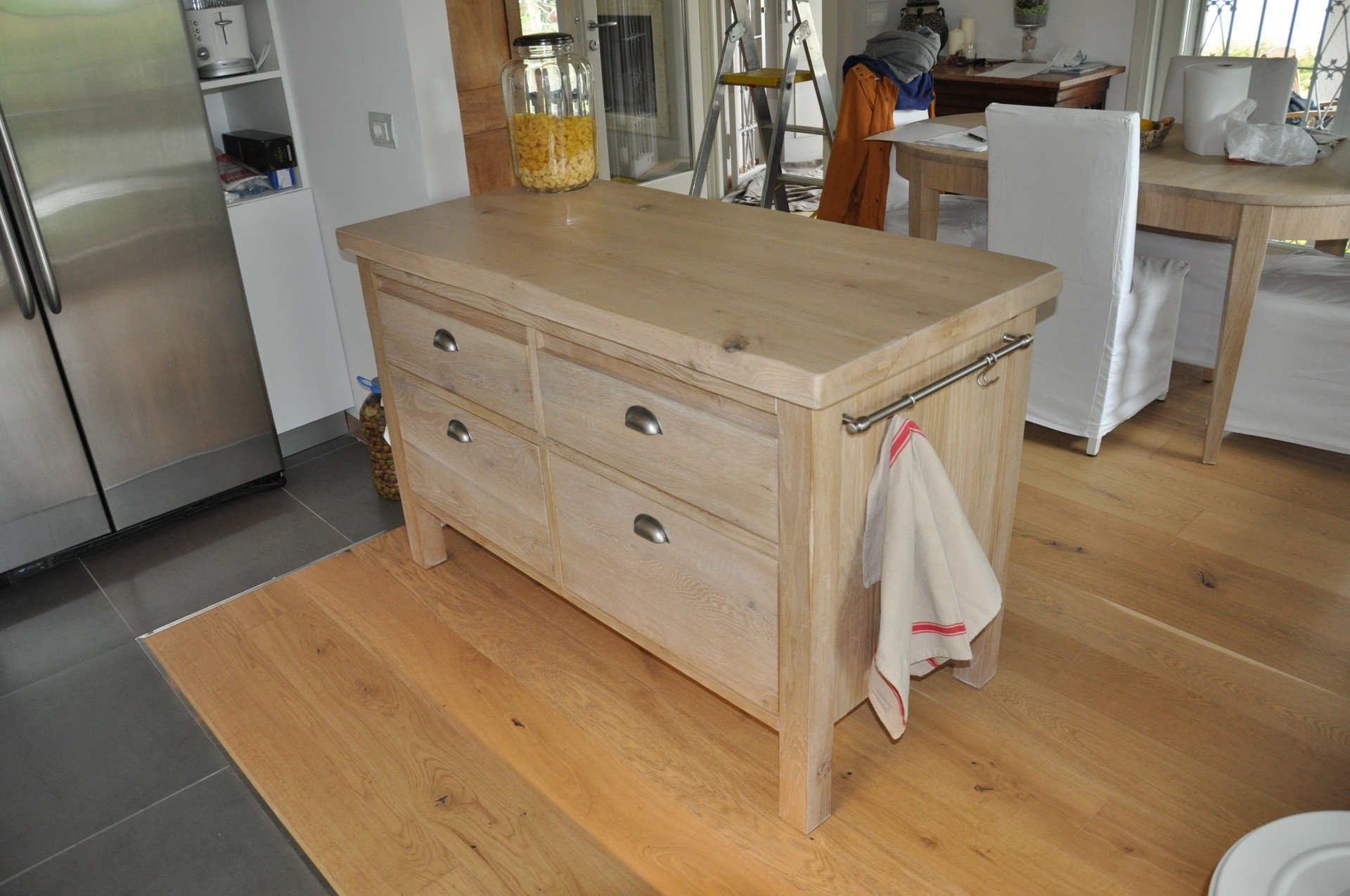 Cucina costruita in legno di rovere su misura fadini - Cucine fai da te in legno ...
