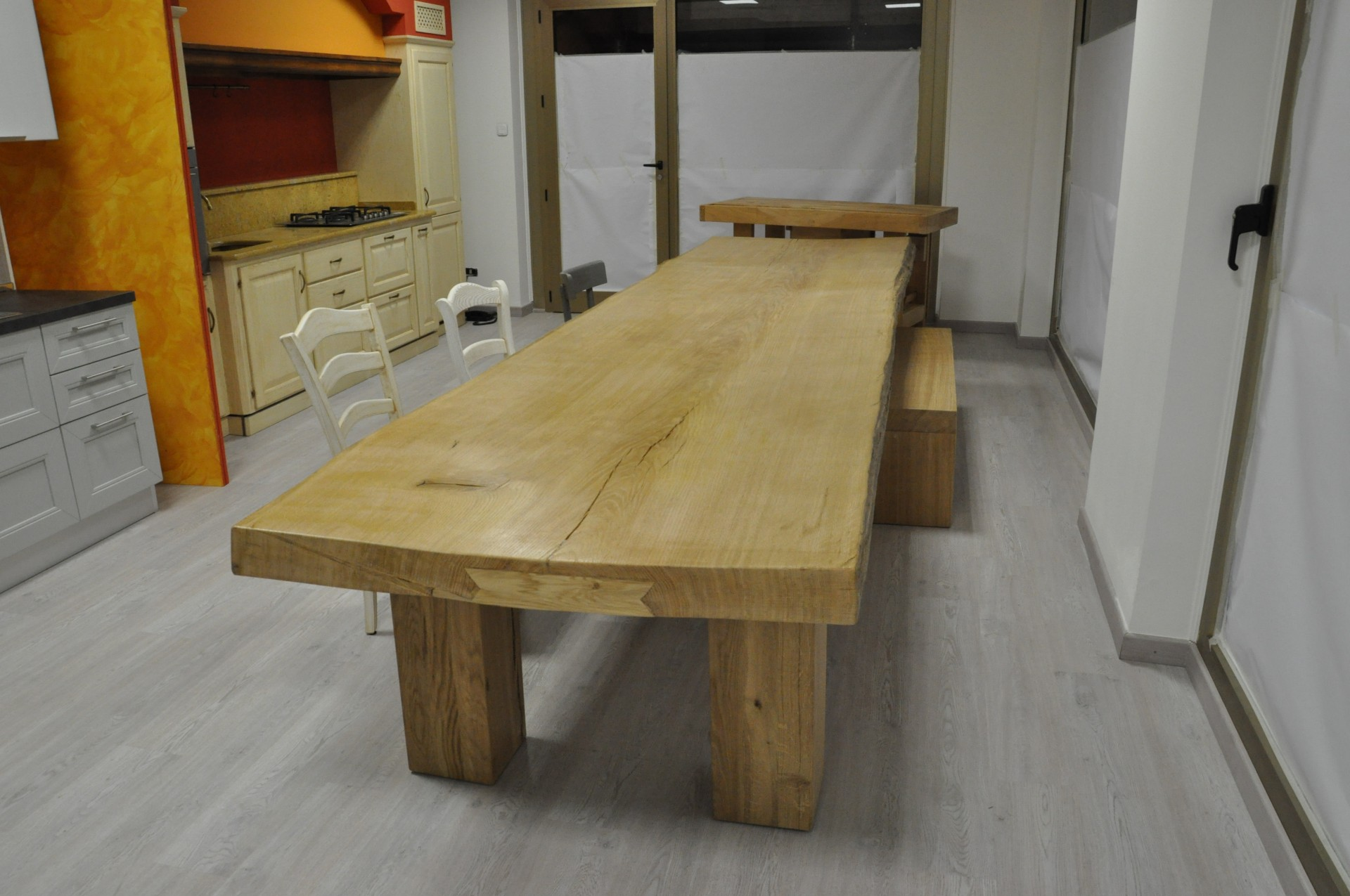 Tavolo in asse unica fadini mobili cerea verona - Tavoli per cucina in legno ...