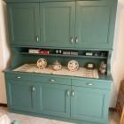 Cucina color verde inglese