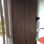 Armadio su misura in legno per esterno.