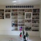 Libreria con vano tv