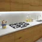 Cucina moderna in legno di rovere.