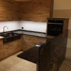 Cucina moderna in rovere rustico.