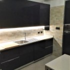 Cucina laccata nera