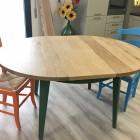 Tavolo rotondo allungabile il legno di rovere
