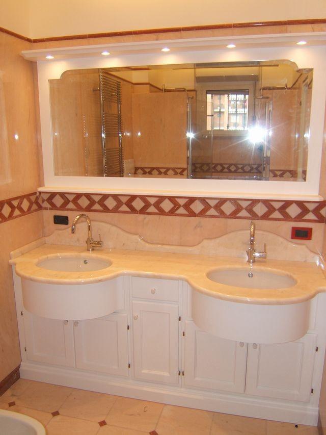 Mobili per bagno e lavanderia su misura fadini mobili - Lavabo in muratura per bagno ...