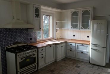 Cucina in rovere laccato.